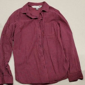 Womens long sleeve button up shirt